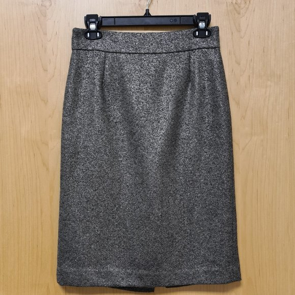 J. Crew Shimmer Wool Pencil Skirt size 4